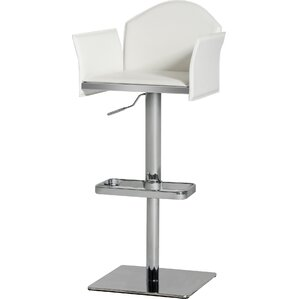 Camron Modern Adjustable Height Metal Framed Swivel Bar Stool by Orren Ellis