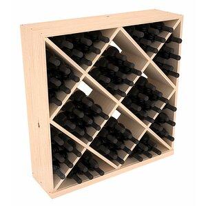 Karnes Pine Diamond Cube 82 Bottle Floor Wine Rack by Red Barrel Studio