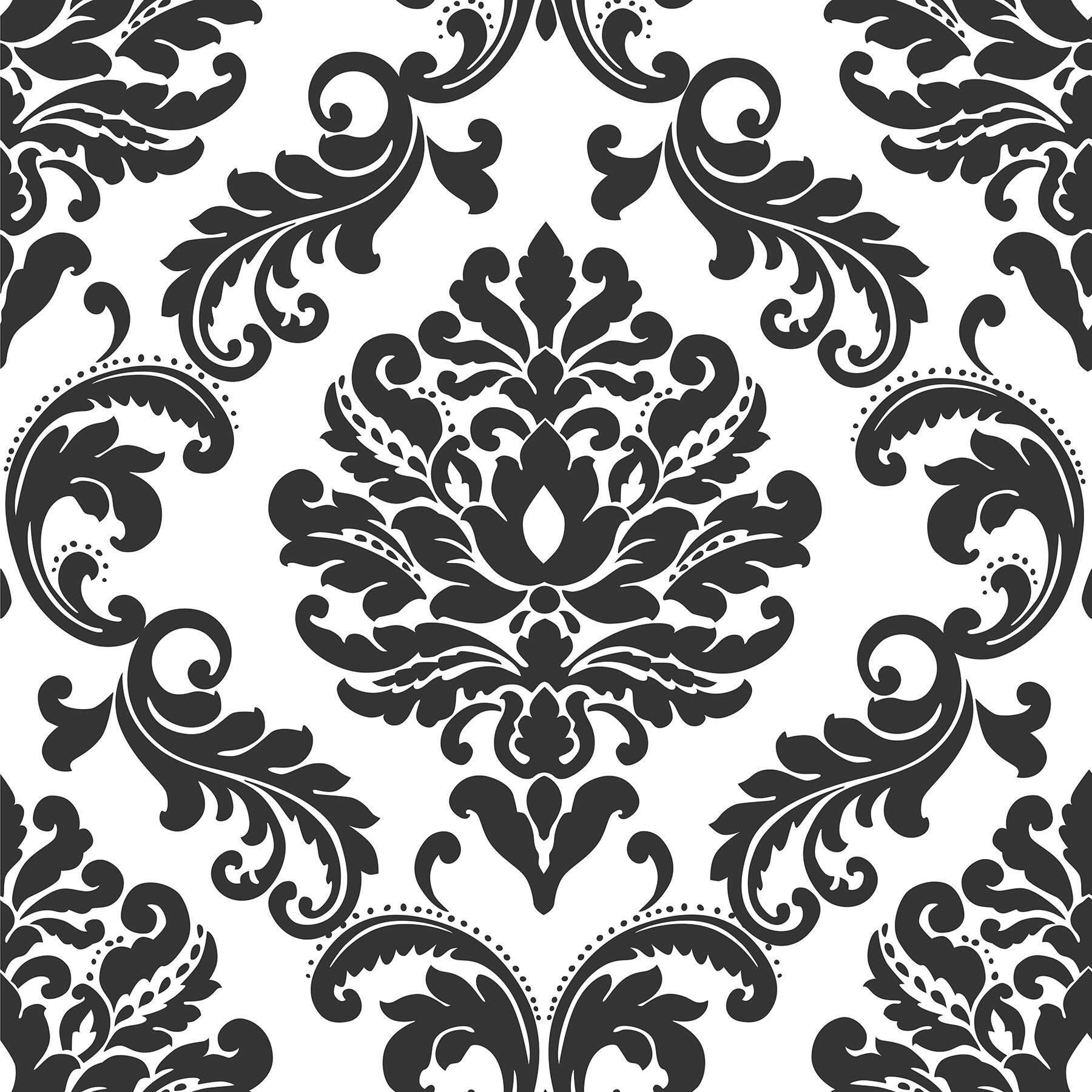 18 L X 20 5 W Damask And Stick Wallpaper Roll Reviews Allmodern