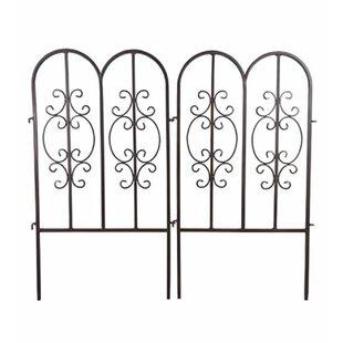Beau Wrought Iron Garden Fence | Wayfair.ca
