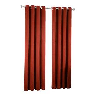 Superior Groton Solid Room Darkening Grommet Single Curtain Panel