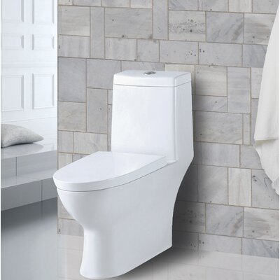 Aqualife Corp Amazon 1.28 GPF Elongated One-Piece Toilet (Seat Included)