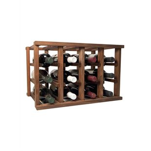 Allaire 12 Bottle Tabletop Wood Wine Rack