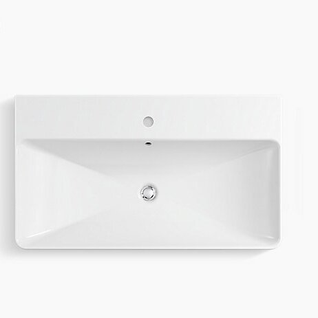 Vox Vitreous China Rectangular Vessel Bathroom Sink With Overflow Reviews Allmodern