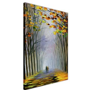 Walk In The Park Painting Print On Wrapped Canvas