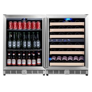 46 Bottle Triple Zone Built-In Wine Cooler by Kingsbottle