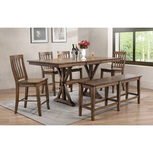 Clennell 6 Piece Pub Table Set