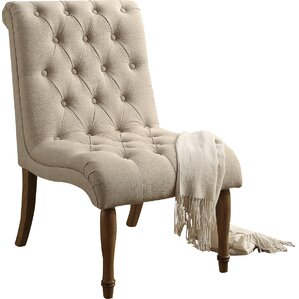 ensley tufted upholstered slipper chair