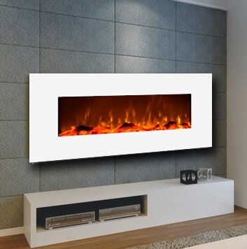 Electric fireplace / contemporary / open hearth / wall-mounted - SMOKING