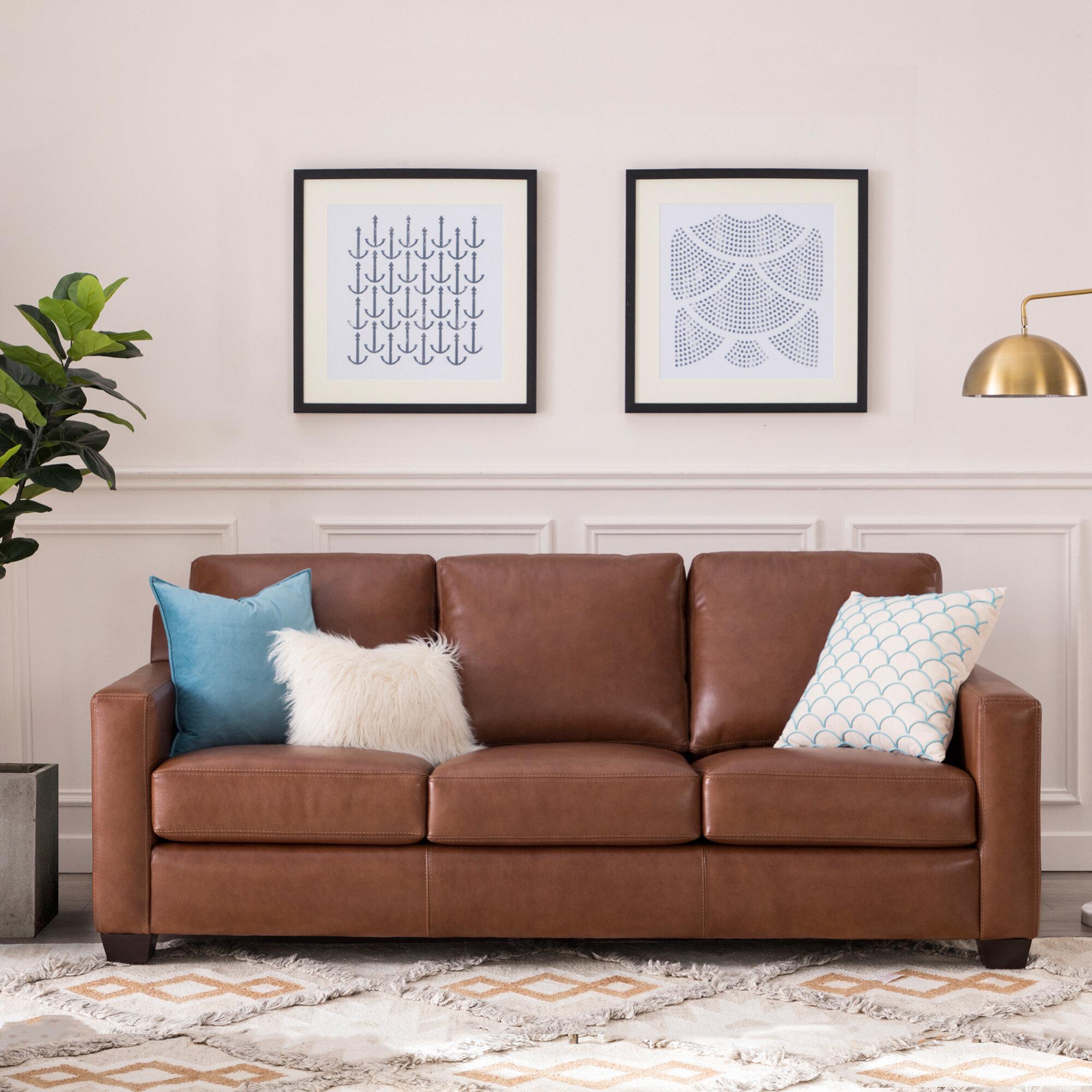 Buckhead Leather Sofa & Reviews | Joss & Main
