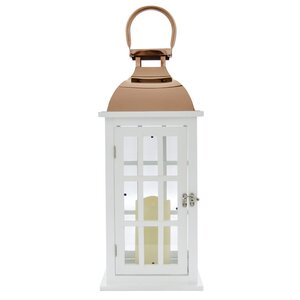LED Candle Wood Lantern