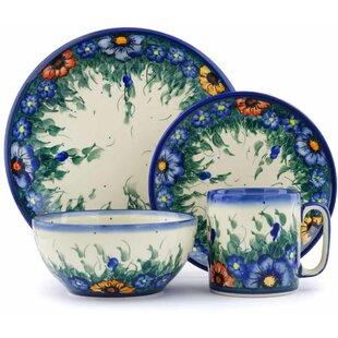 Polish Pottery 4 Piece Place Setting Service for 1  sc 1 st  Wayfair & Polish Pottery Dinnerware | Wayfair