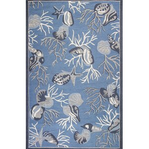 Sealy Blue Outdoor/Indoor Area Rug