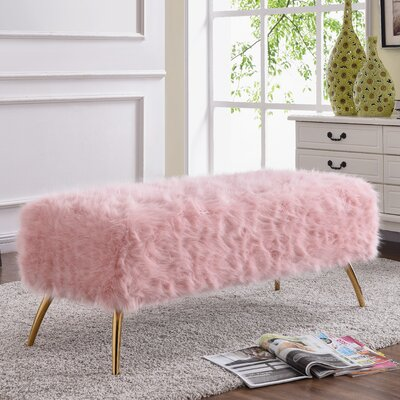 Cole & Grey Acrylic Upholstered Bench & Reviews | Wayfair