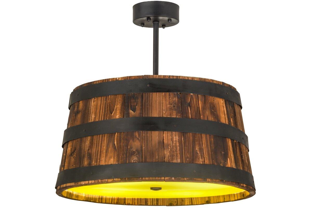Meyda tiffany whiskey barrel 4 light drum pendant reviews wayfair whiskey barrel 4 light drum pendant arubaitofo Image collections