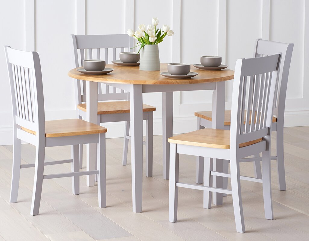 Good Genovia Folding Dining Set With 4 Chairs