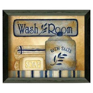 'Wash Room' Framed Graphic Art