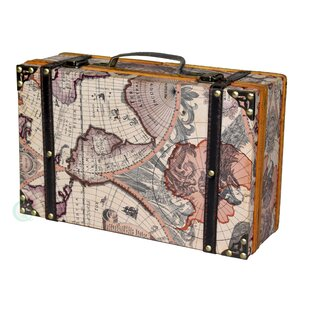 World map on wood wayfair old world map wooden small trunk gumiabroncs Gallery