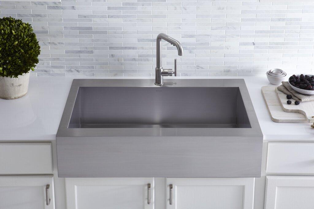 Kohler Vault Top-Mount Single-Bowl Stainless Steel Kitchen Sink ...