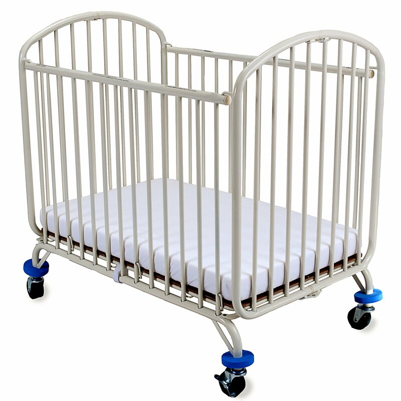 L.A. Baby Folding Arched Compact Folding Portable Crib ...