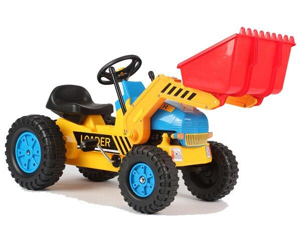 Vroom Rider Big Kids Pedal Ride-On Loader Excavator