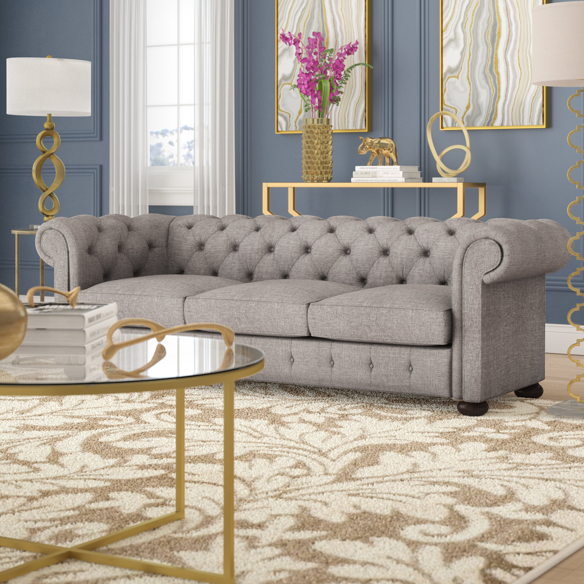 Willa arlo interiors vegard chesterfield sofa reviews wayfair