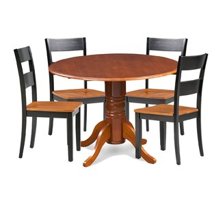 Cordell 5 Piece Drop Leaf Breakfast Nook Solid Wood Dining Set