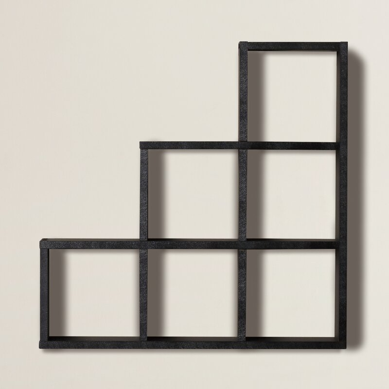 Merveilleux Bermondsey Stepped 6 Cubby Decorative Wall Shelf