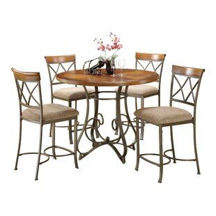Cobbs 5 Piece Counter Height Dining Set 2019 Online