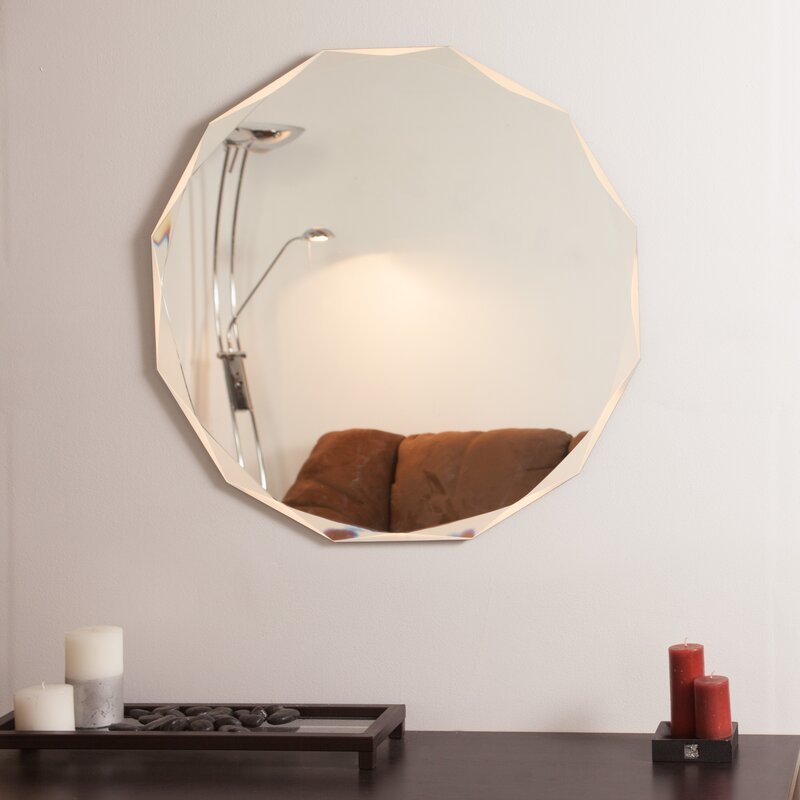 Decor Wonderland Frameless Diamond Wall Mirror Amp Reviews