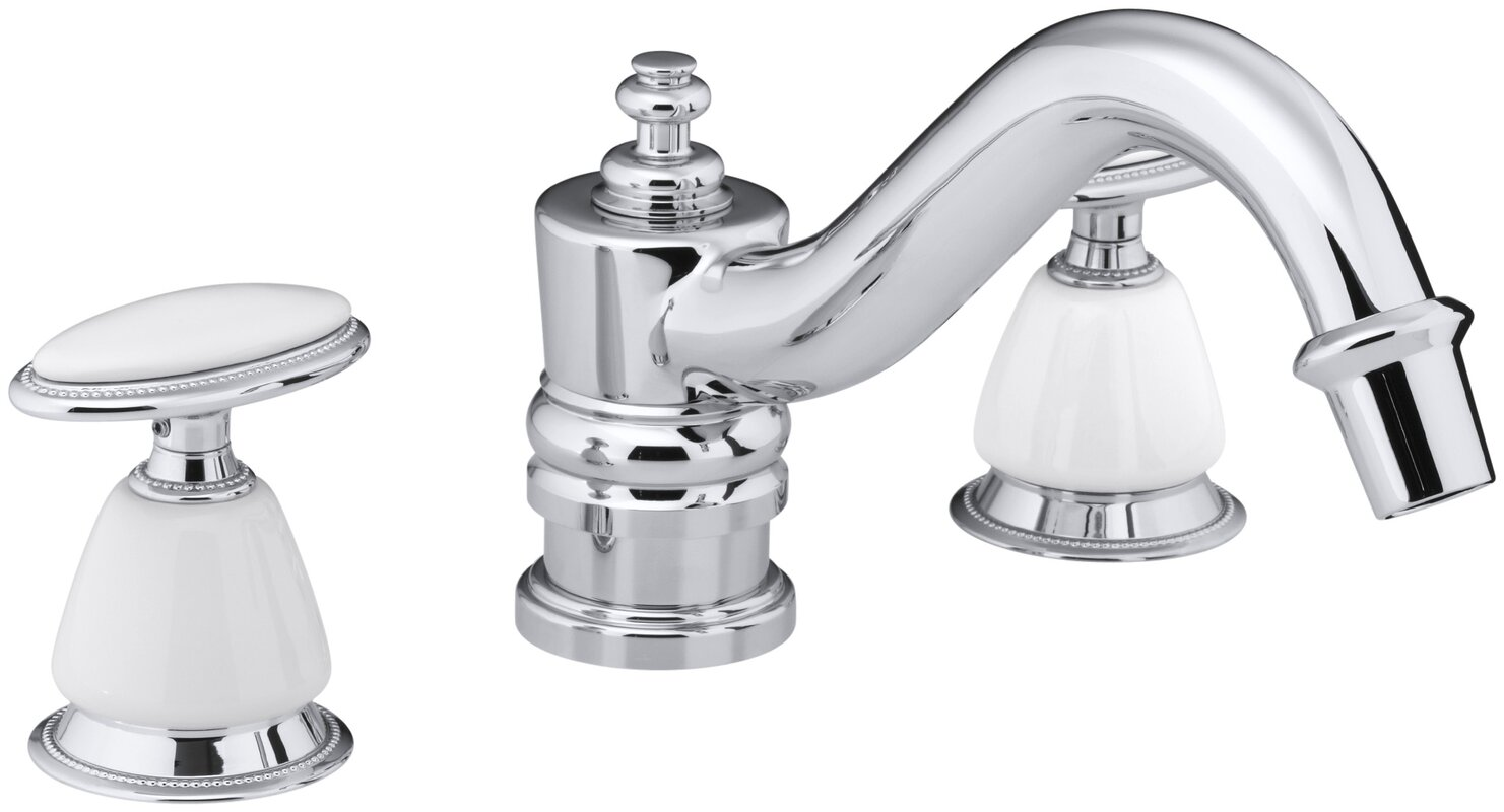 Kohler Antique Bath Faucet Trim for Deck-Mount High-Flow Valve ...