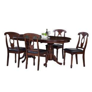 Doretha Traditional 5 Piece Solid Wood Dining Set Reviews