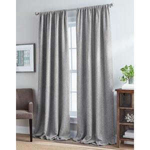 Rothwell Mystic Solid Room Darkening Rod Pocket Single Curtain Panel