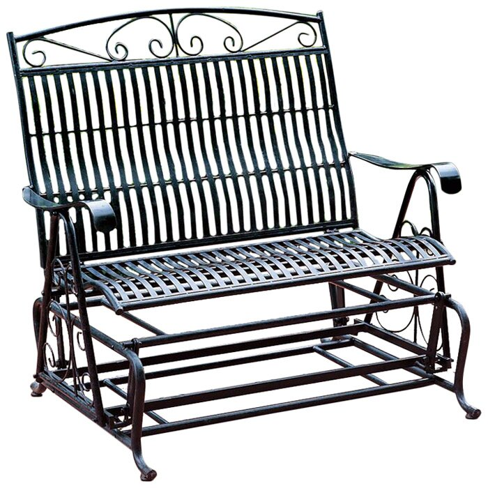 Lovely Snowberry Iron Double Patio Glider Bench