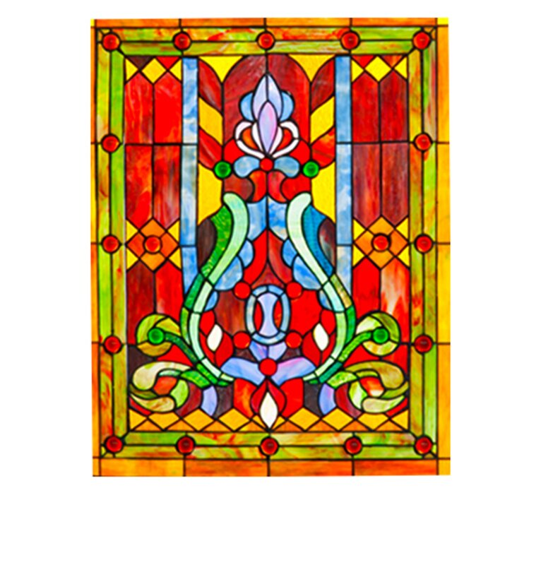 River Of Goods Fleur De Lis Tiffany Style Stained Glass Fireplace Screen Reviews