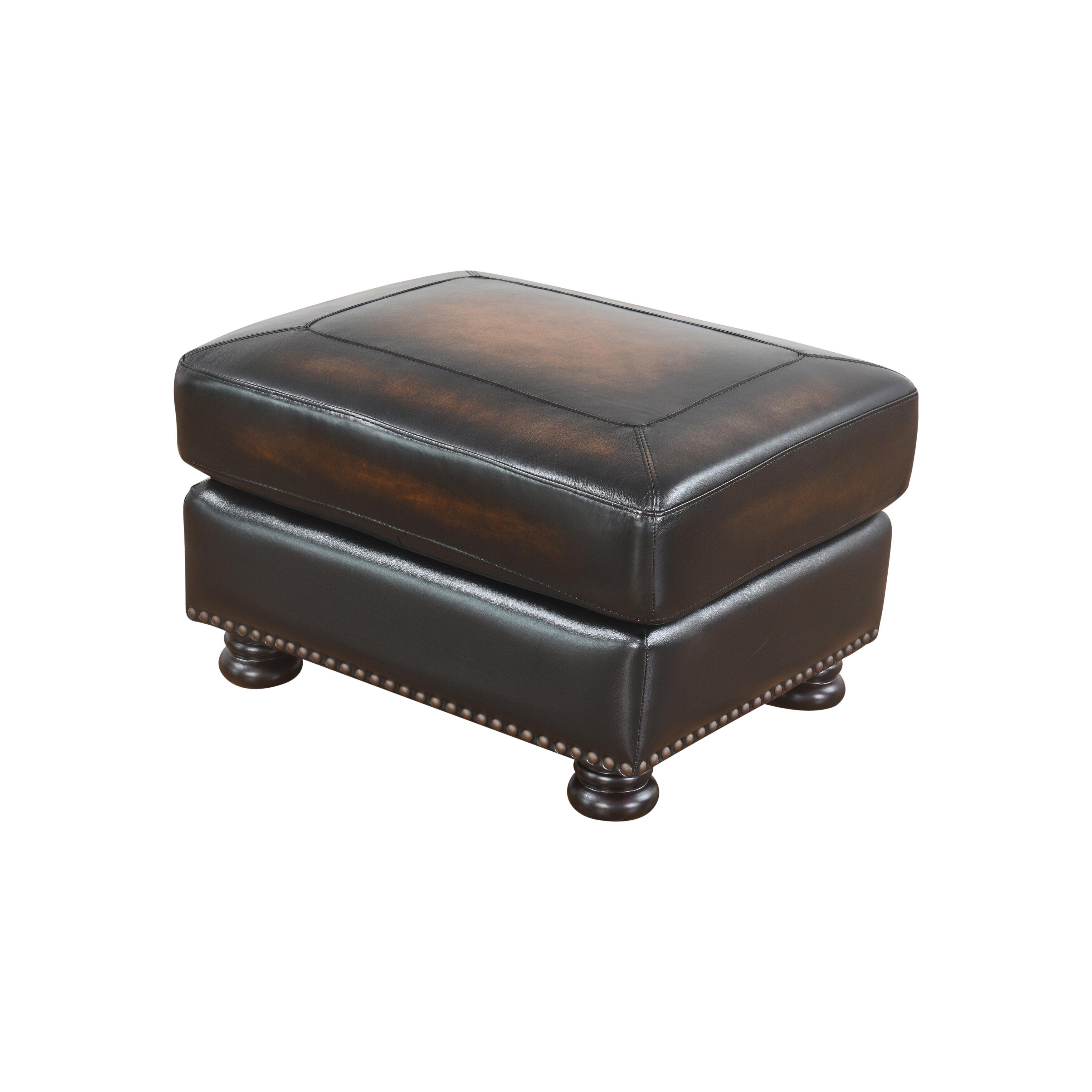 Leather Ottoman On Wheels   Wayfair