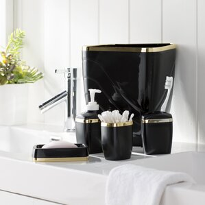 Bathroom Accessories Black black bathroom accessories you'll love | wayfair