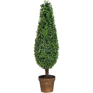 Faux Indoor/Outdoor Boxwood Tree