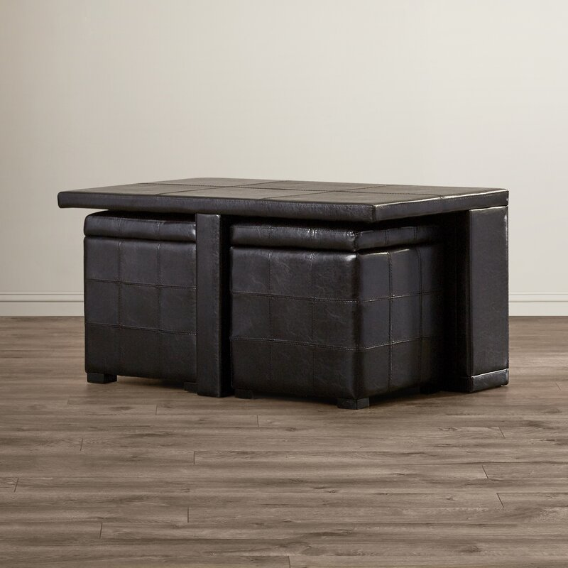 Trout River 3 Piece Coffee Table And Ottoman Set