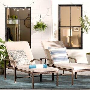 Matoury Chaise Lounge With Cushion (Set Of 2)