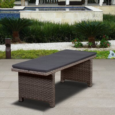 Breakwater Bay Florentina Garden Bench Color: Gray