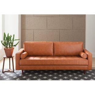 Ordinaire Violino Leather Sofa | Wayfair