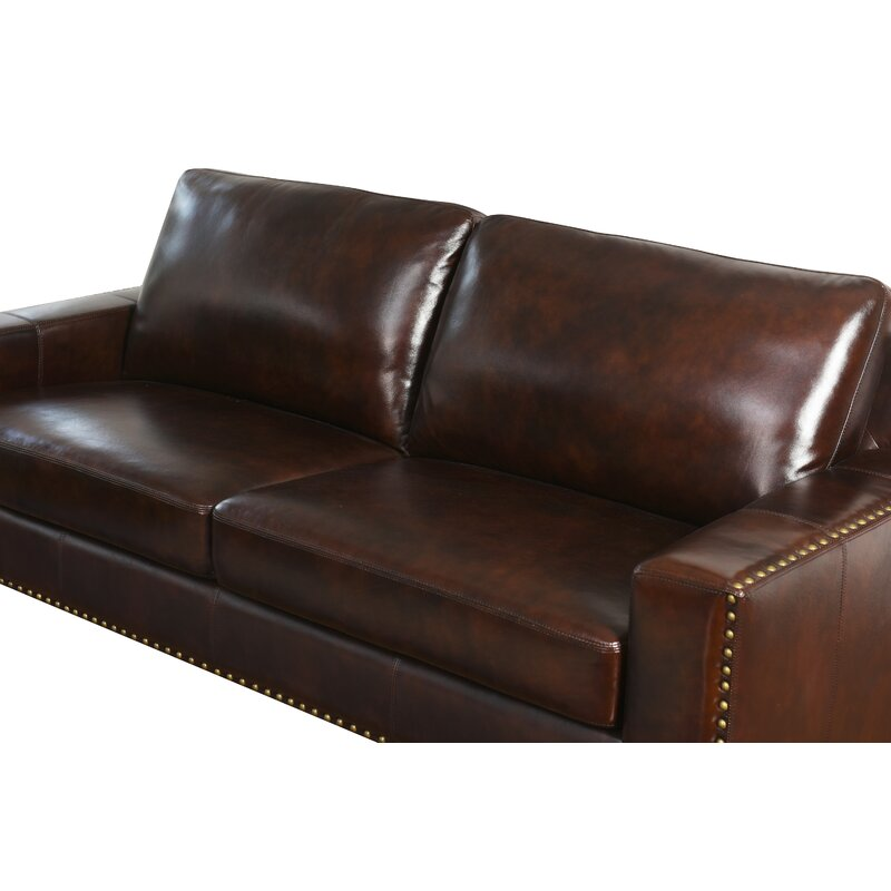Trent Austin Design Lemon Grove Leather Sofa & Reviews   Wayfair