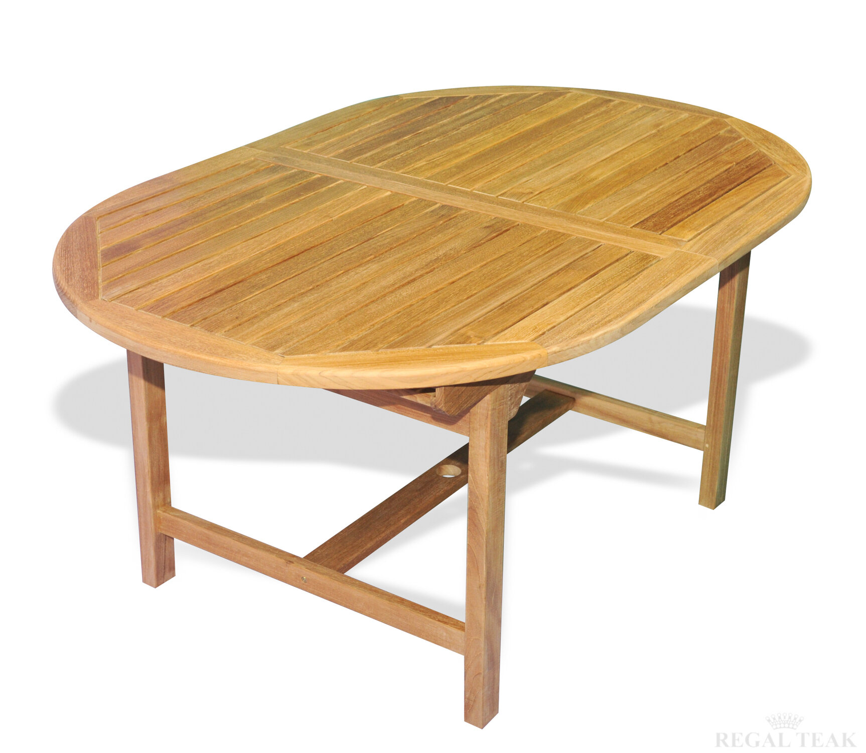 Regal Teak Extension Dining Table Wayfair - Teak oval extension dining table