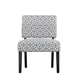 Bal Contemporary Sleek Linen Side Chair by E..