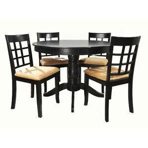 Oneill 5 Piece Wood Dining Set