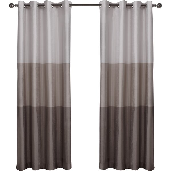 Laude Run Newton Striped Semi Sheer Grommet Curtain Panels Reviews Wayfair