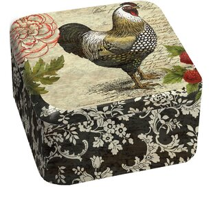 French Rooster Tin Candle