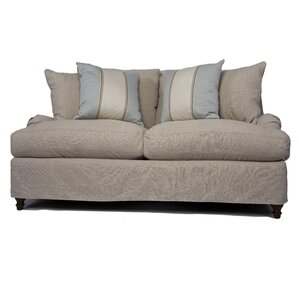 Seacoast Slipcovered Loveseat by Sunset Trading