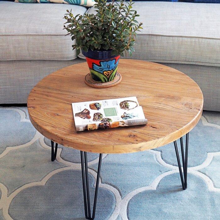 Cornelius Old Elm Rustic Coffee Table